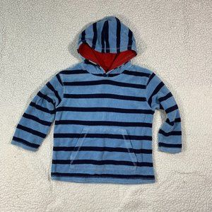 MINI BODEN Blue Terry Cloth Hoodie Pullover
